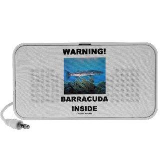Warning! Barracuda Inside PC Speakers
