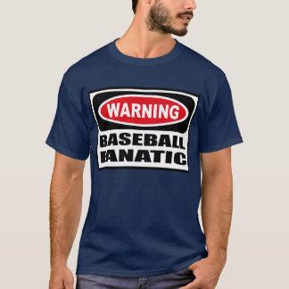 Warning BASEBALL FANATIC Men's Dark T-Shirt