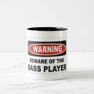 Warning Bass Player Mug
