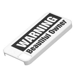 warning-beautiful-owner-case iPhone SE/5/5s case