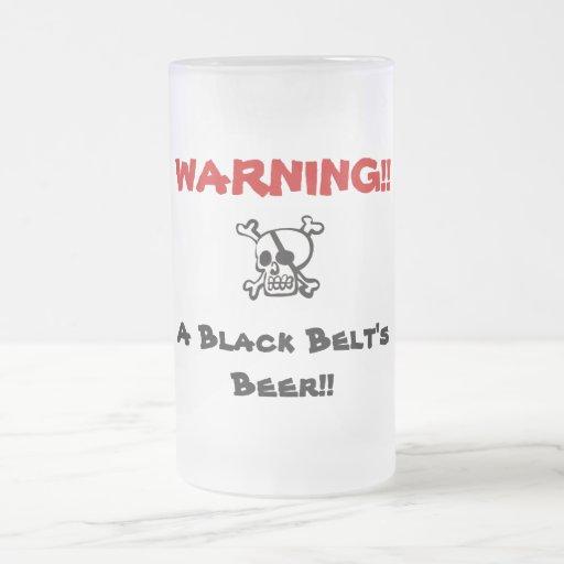 WARNING!! Beer 16 Oz Frosted Glass Beer Mug