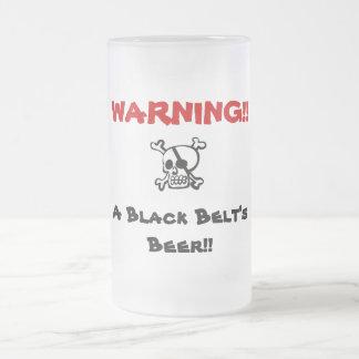 WARNING!! Beer Frosted Glass Beer Mug
