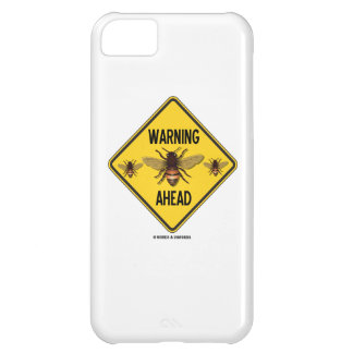 Warning Bees Ahead Three Bees Yellow Diamond Sign Case For iPhone 5C