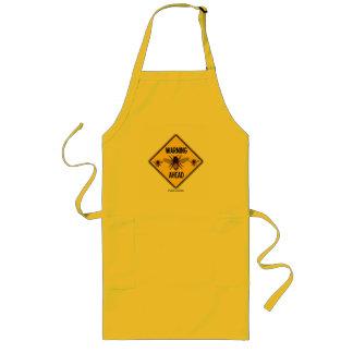 Warning Bees Ahead Yellow Diamond Warning Sign Long Apron