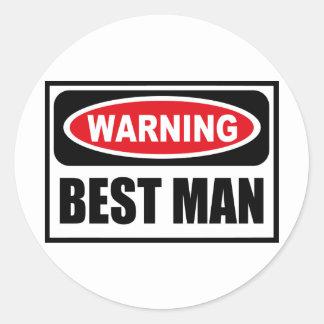 Warning BEST MAN Sticker
