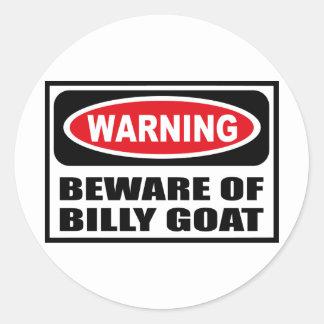 Warning BEWARE OF BILLY GOAT Sticker