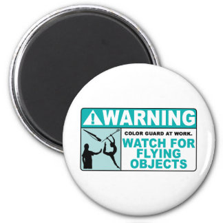 Warning- Beware of Flying Objects! 2 Inch Round Magnet