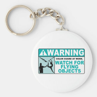 Warning- Beware of Flying Objects! Basic Round Button Keychain