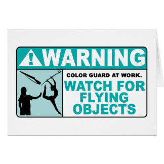 Warning- Beware of Flying Objects! Card
