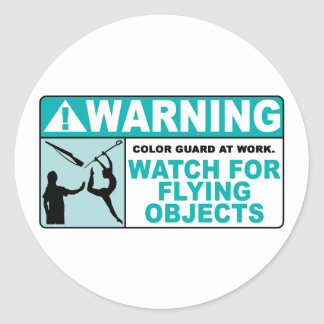 Warning- Beware of Flying Objects! Classic Round Sticker