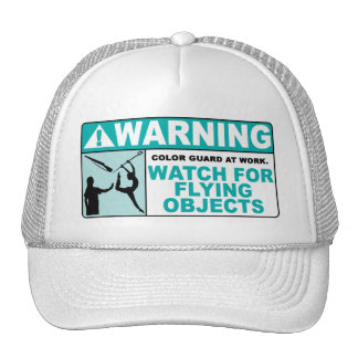 Warning- Beware of Flying Objects! Mesh Hat