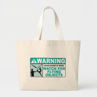 Warning- Beware of Flying Objects! Large Tote Bag