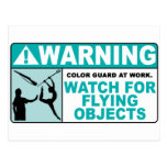 Warning- Beware of Flying Objects! Post Card