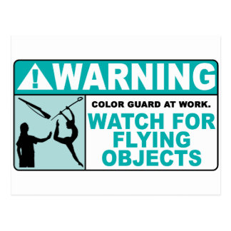 Warning- Beware of Flying Objects! Postcard