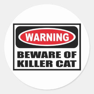 Warning BEWARE OF KILLER CAT Sticker