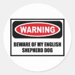 Warning BEWARE OF MY ENGLISH SHEPHERD DOG Sticker