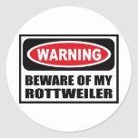 Warning BEWARE OF MY ROTTWEILER Sticker