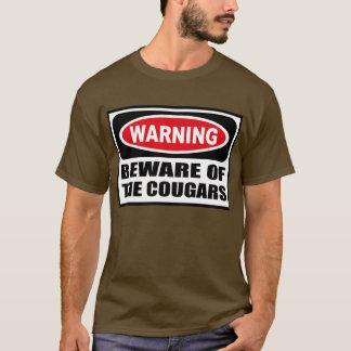 Warning BEWARE OF THE COUGARS Men's Dark T-Shirt