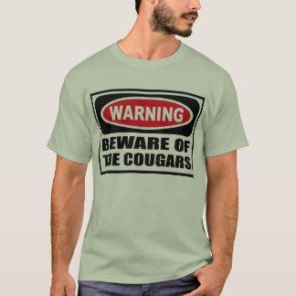 Warning BEWARE OF THE COUGARS Men's T-Shirt