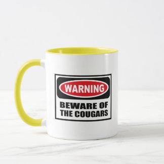 Warning BEWARE OF THE COUGARS Mug