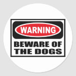 Warning BEWARE OF THE DOGS Sticker