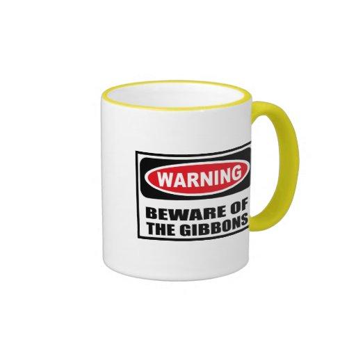 Warning BEWARE OF THE GIBBONS Mug