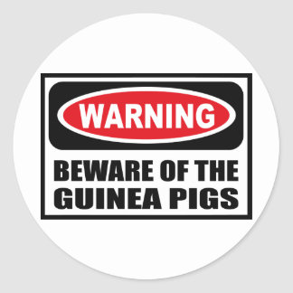 Warning BEWARE OF THE GUINEA PIGS Sticker
