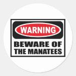 Warning BEWARE OF THE MANATEES Sticker