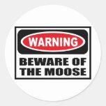 Warning BEWARE OF THE MOOSE Sticker