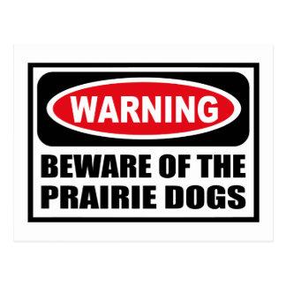Warning BEWARE OF THE PRAIRIE DOGS Postcard