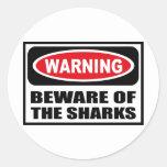 Warning BEWARE OF THE SHARKS Sticker