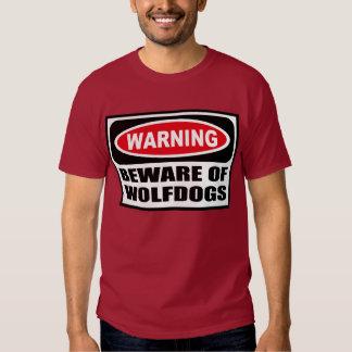 Warning BEWARE OF WOLFDOGS Men's Dark T-Shirt