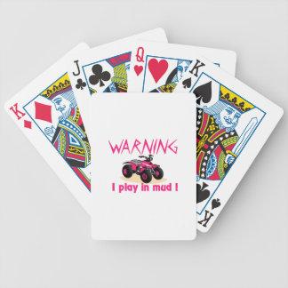 Warning Bicycle Playing Cards