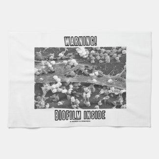 Warning! Biofilm Inside (Microorganisms) Kitchen Towel