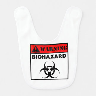 Warning Biohazard Baby Bib