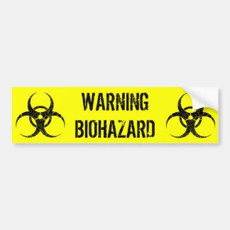 Warning Biohazard Bumper Sticker Car Bumper Sticker