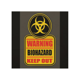 Warning Biohazard Keep Out Sign