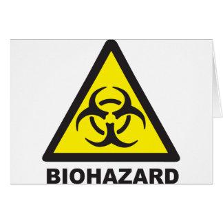 Warning Biohazard Sign Card
