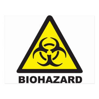 Warning Biohazard Sign Postcard