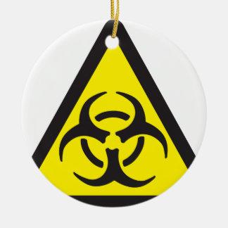 Warning Biohazard Symbol Ceramic Ornament