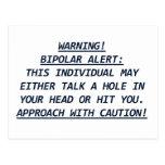 WARNING-BIPOLAR ALERT4 POSTALES