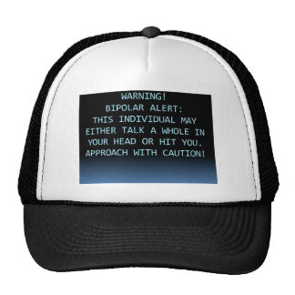 WARNING-BIPOLAR ALERT TRUCKER HAT