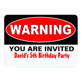 Warning Birthday Card