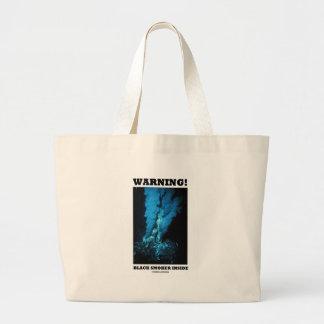 Warning! Black Smoker Inside (Sea Vent) Canvas Bag