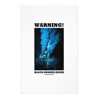 Warning! Black Smoker Inside (Sea Vent) Personalized Stationery