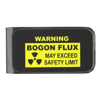 Warning: Bogon Flux Gunmetal Finish Money Clip