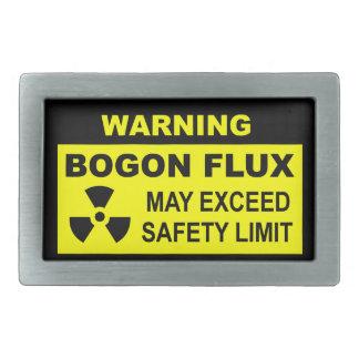 Warning: Bogon Flux Rectangular Belt Buckle