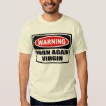 Warning BORN AGAIN VIRGIN Men's T-Shirt