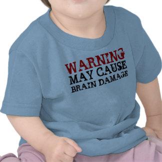 WARNING BRAIN DAMAGE SHIRTS