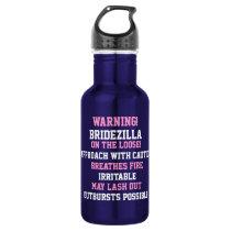 Warning! Bridezilla on the Loose Water Bottle